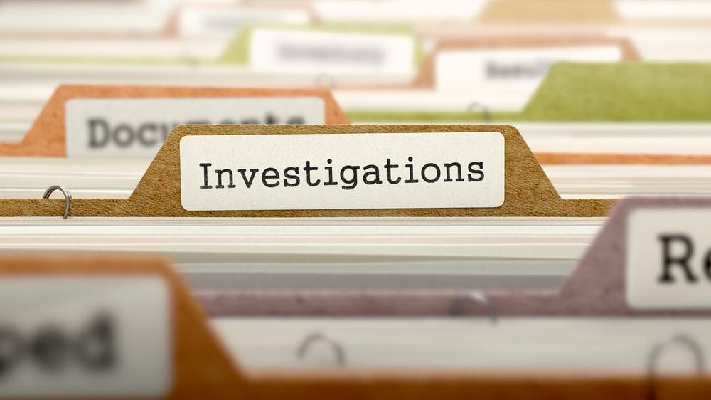 Investigation for disciplinary procedure