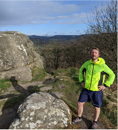 Customer Relationship Manager, Chris Walsh at Froggatt Edge (also in the Peak District!)