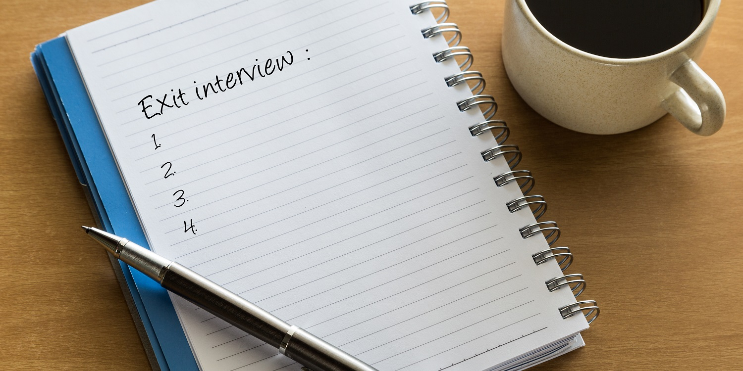 Exit interview for employee leaving job