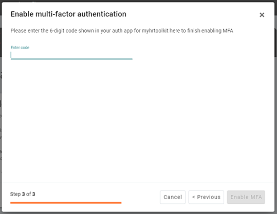 Confirm your device is setup correctly MFA