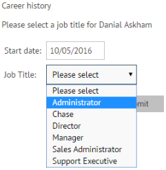 Select a job title for historical career