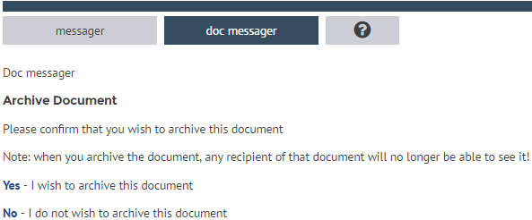 Remove a document message