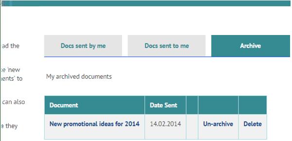 Document archive on myhrtoolkit