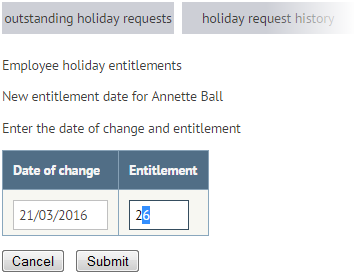 Add a holiday entitlement