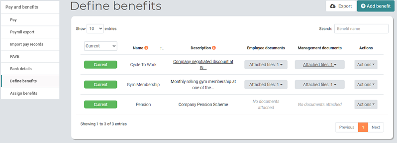 Pay and Benefits Managers Define benefits