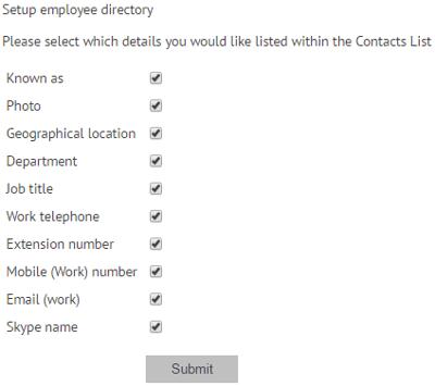 Edit employee directory