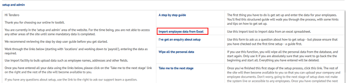 Import employees from excel on myhrtoolkit