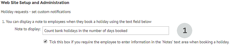Adding descriptions to holiday requests