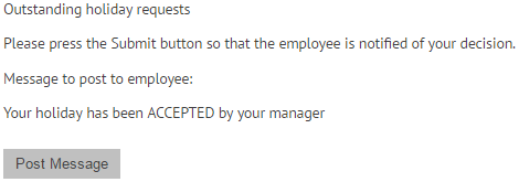 Outstanding holiday request on myhrtoolkit