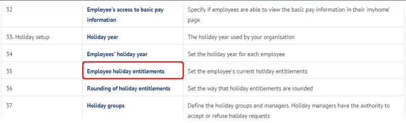 Changing holiday units on myhrtoolkit