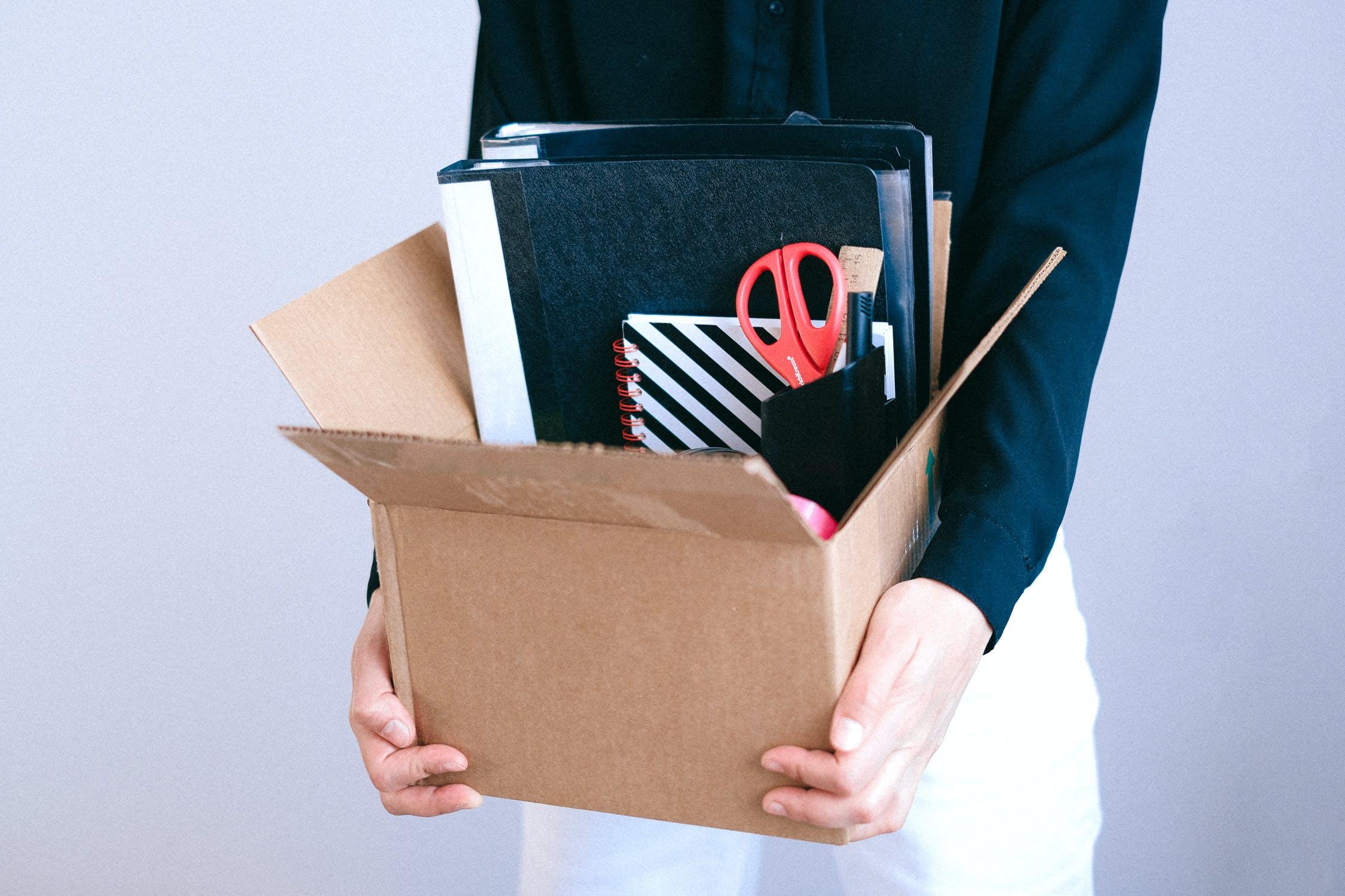 Leaving employee giving back company property