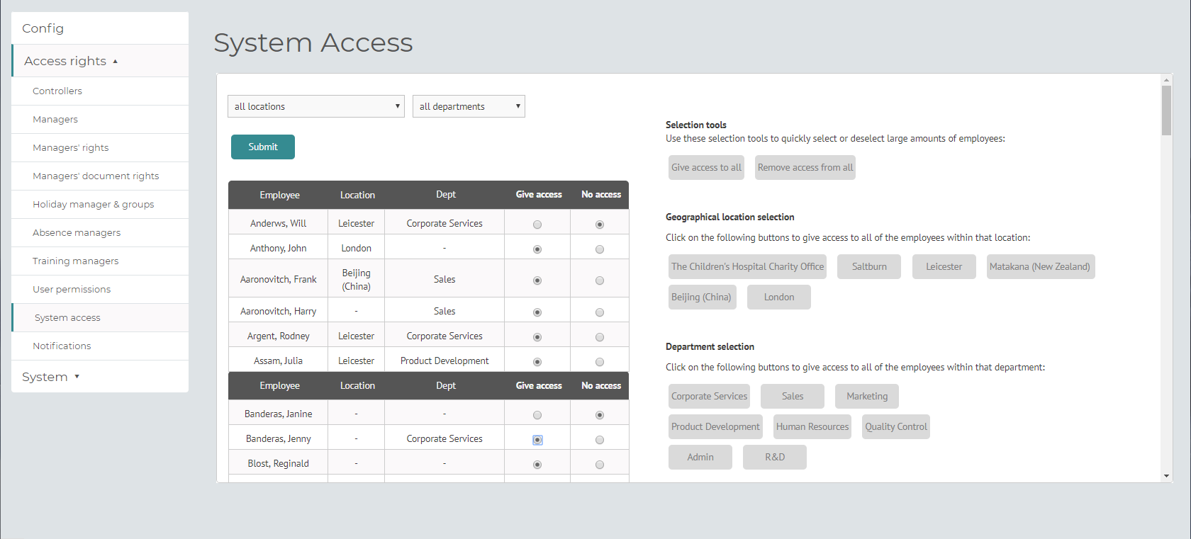 myhrtoolkit config HR system access
