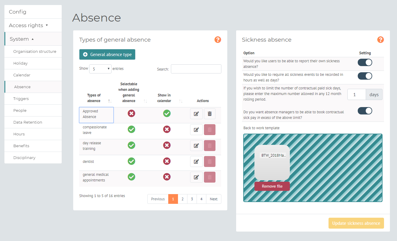 myhrtoolkit config absence management