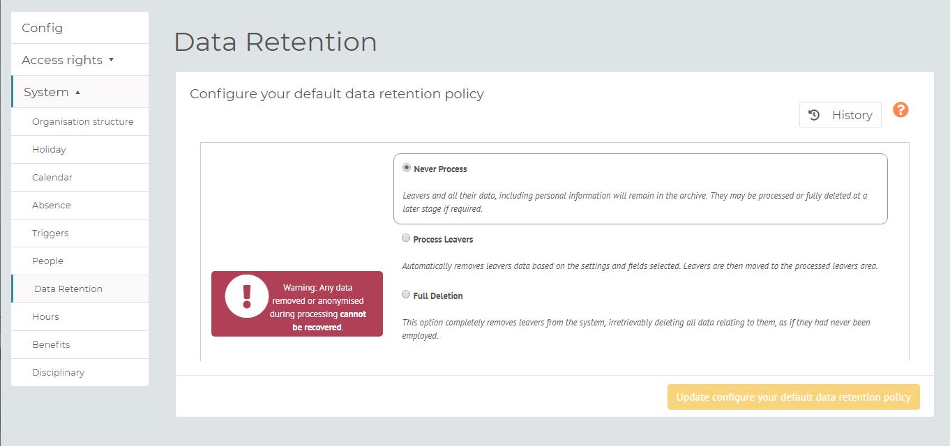 myhrtoolkit config data retention