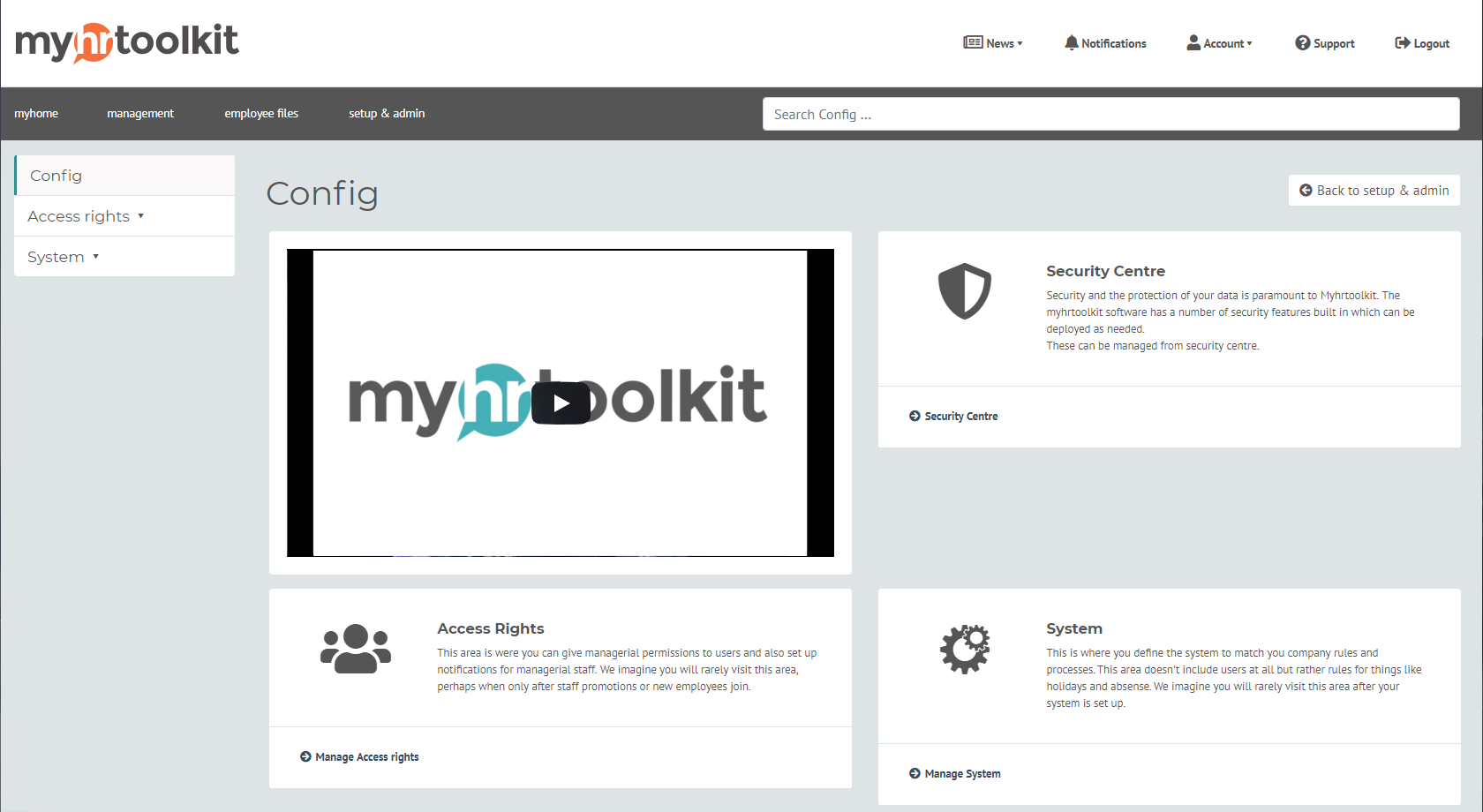myhrtoolkit HR software config area