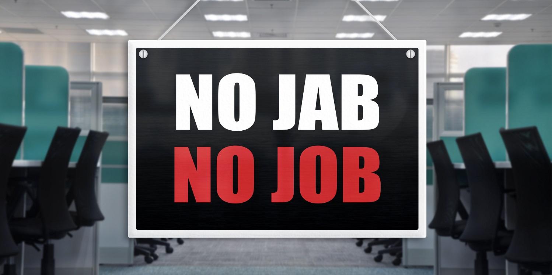 No jab no job policy