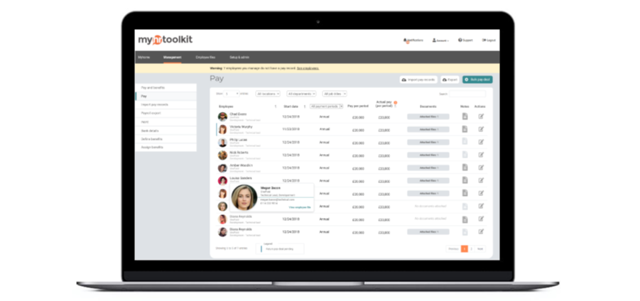 Pay & Benefits Tracking Software