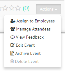 Assign Training Events